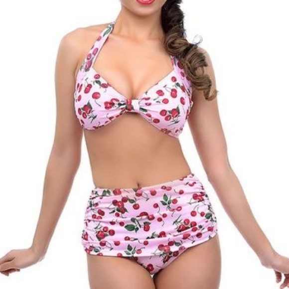 83efdf61b3d Esther Williams Other - Esther Williams two piece swimsuit Pink Cherry